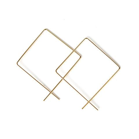 Eva Earrings, Gold