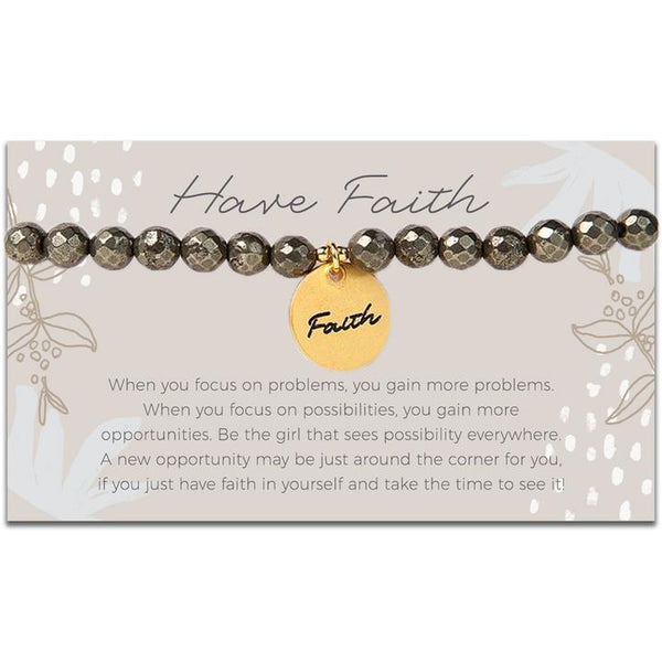 Token Stretch Bracelet, Faith