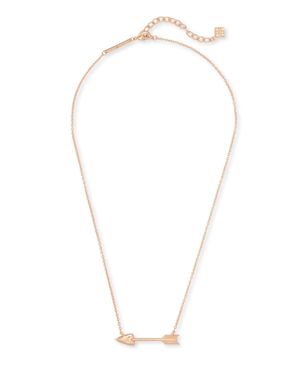 Zoey Short Pendant Necklace, Rose Gold