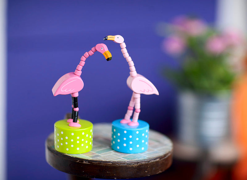 Pink Flamingo Push Puppet