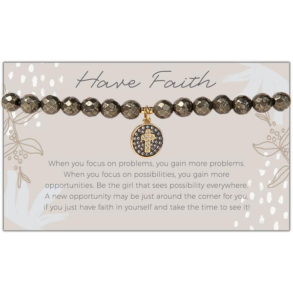 Token Stretch Bracelet, Have Faith