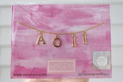 Sorority Letter Necklace