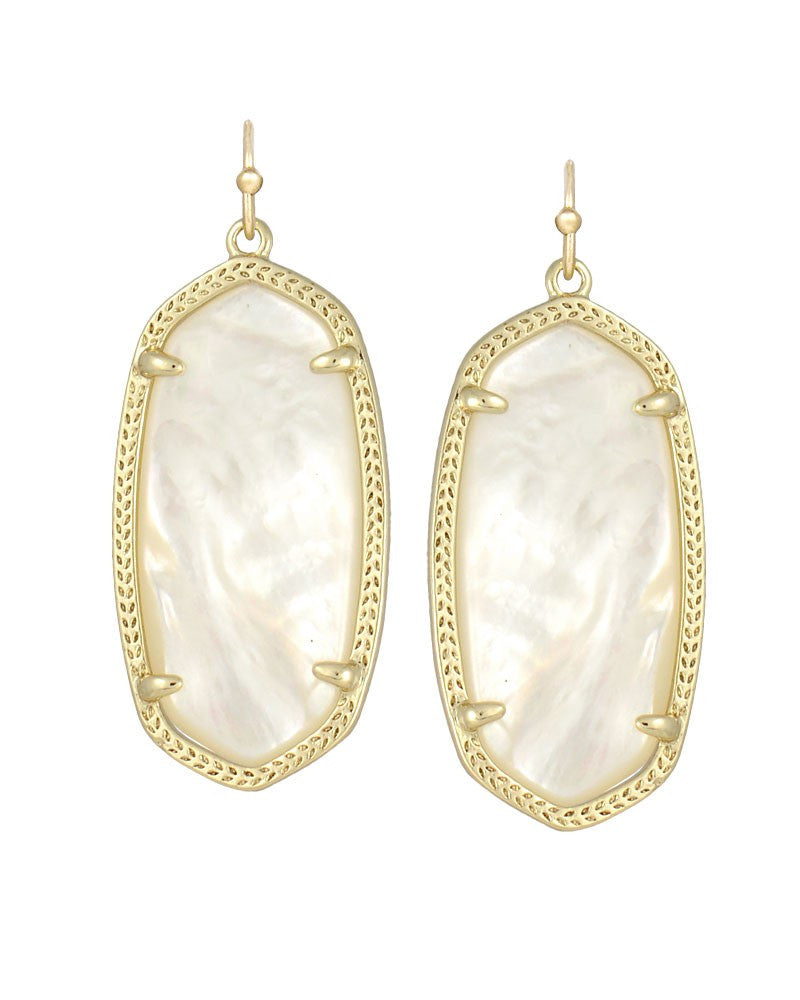 KENDRA SCOTT Elle Earrings in Ivory - Sabi Boutique - 1