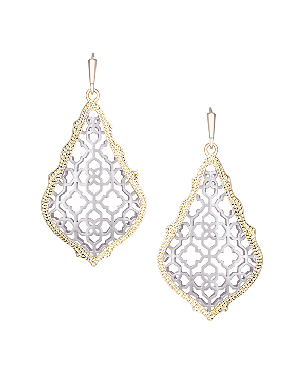 KENDRA SCOTT Addie Earrings in Silver Mix