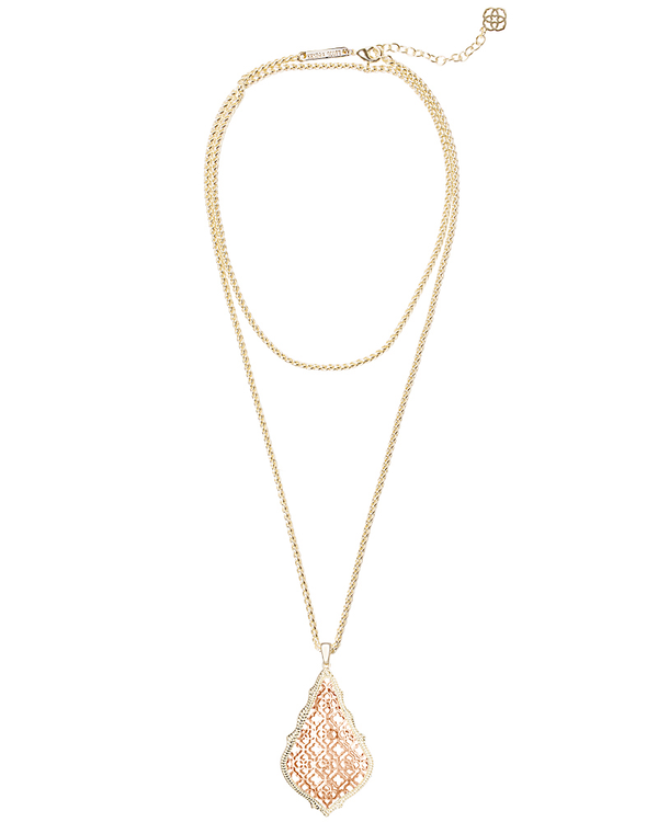 KENDRA SCOTT Aiden Necklace in Rose Gold