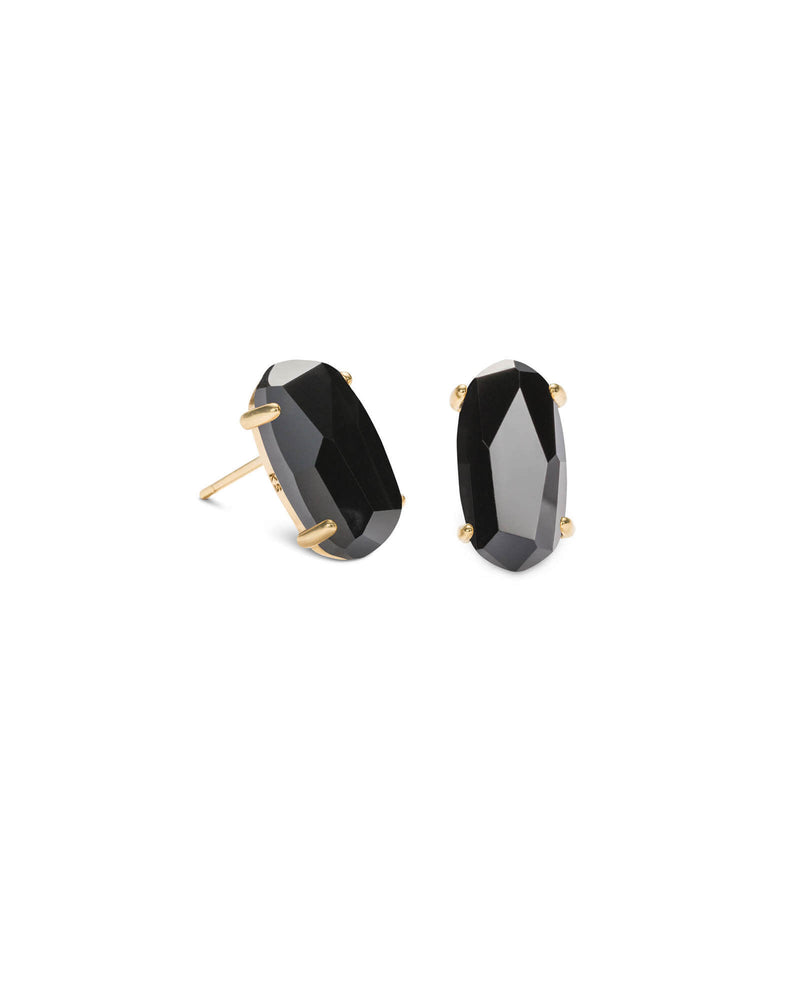 KENDRA SCOTT Betty Gold Stud Earrings - Black