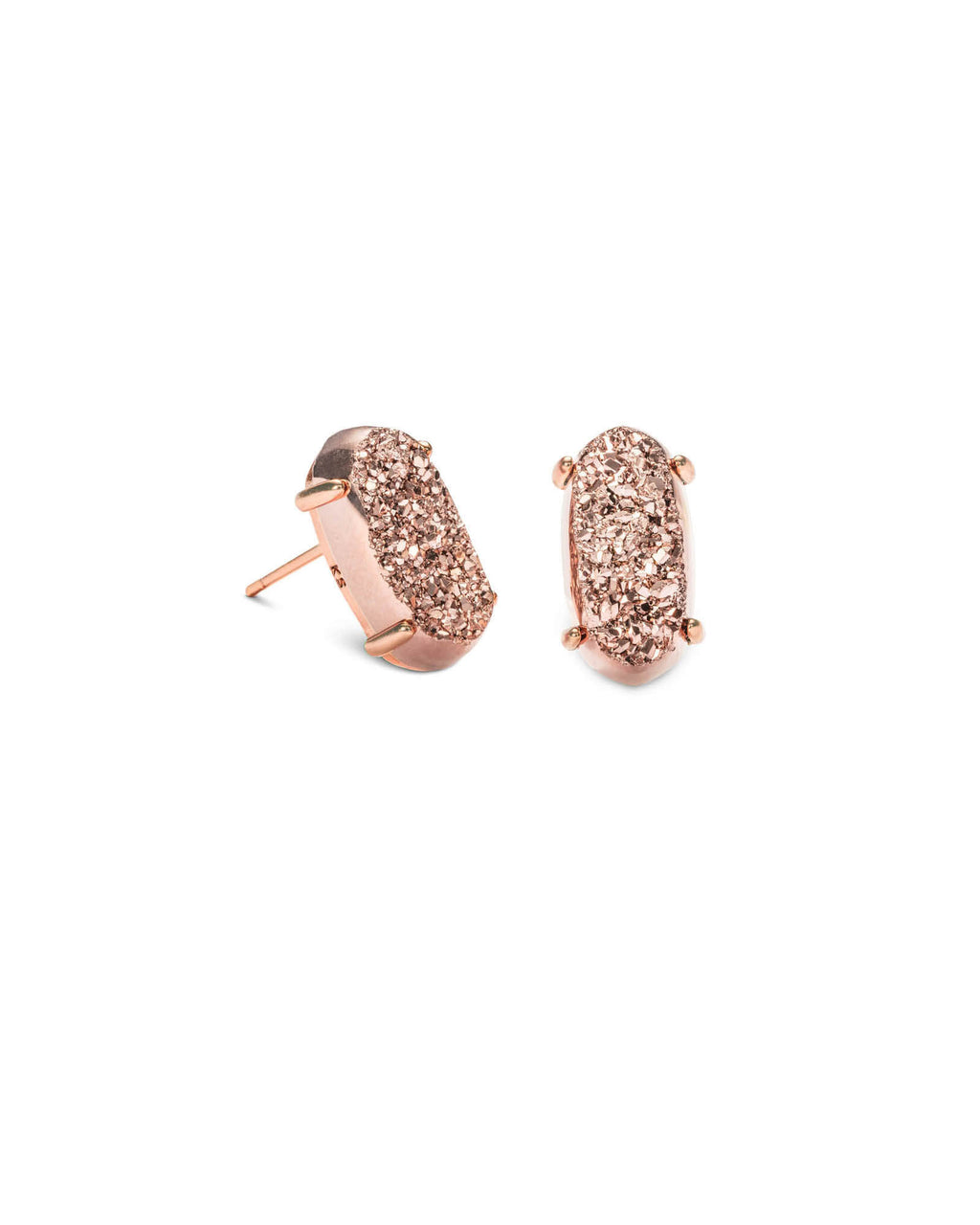 KENDRA SCOTT Betty Rose Gold Stud Earrings - Rose Gold Drusy
