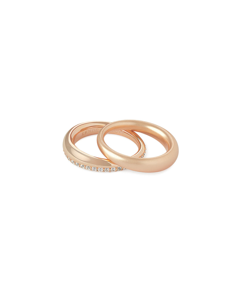 Colette Ring Set In Rose Gold