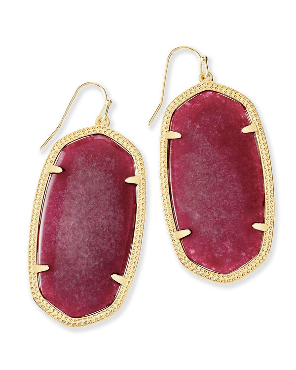 KENDRA SCOTT Danielle Earrings in Maroon Jade - Gold