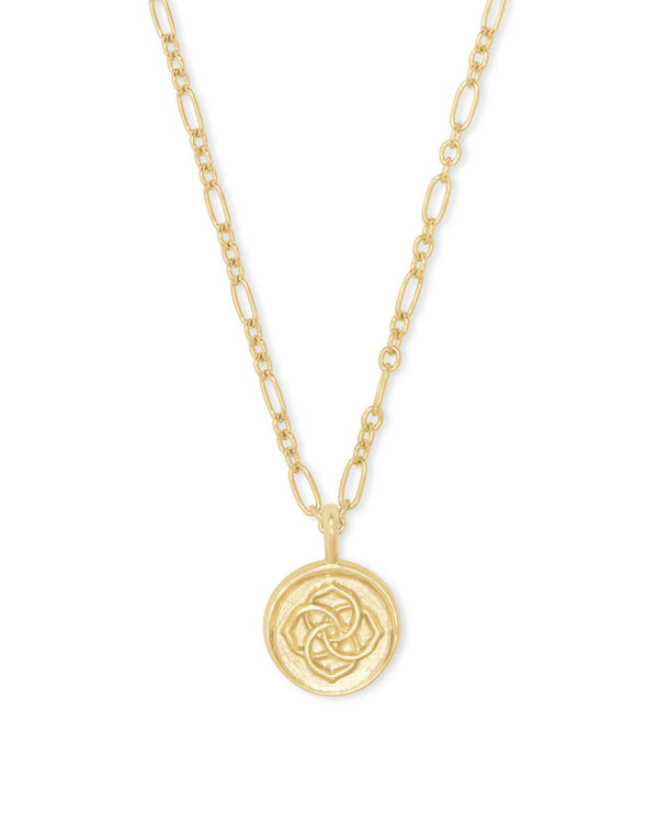 Dira Coin Pendant Necklace, Gold