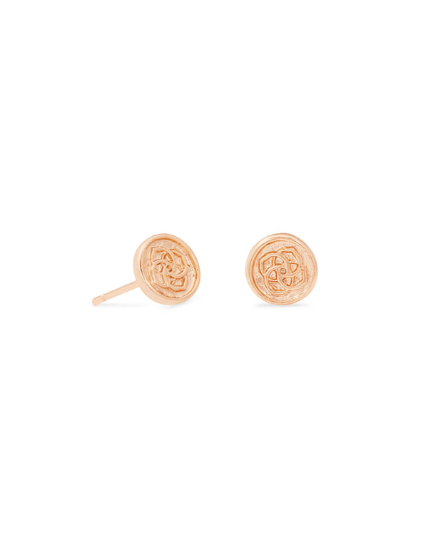 Dira Coin Stud Earring, Rose Gold