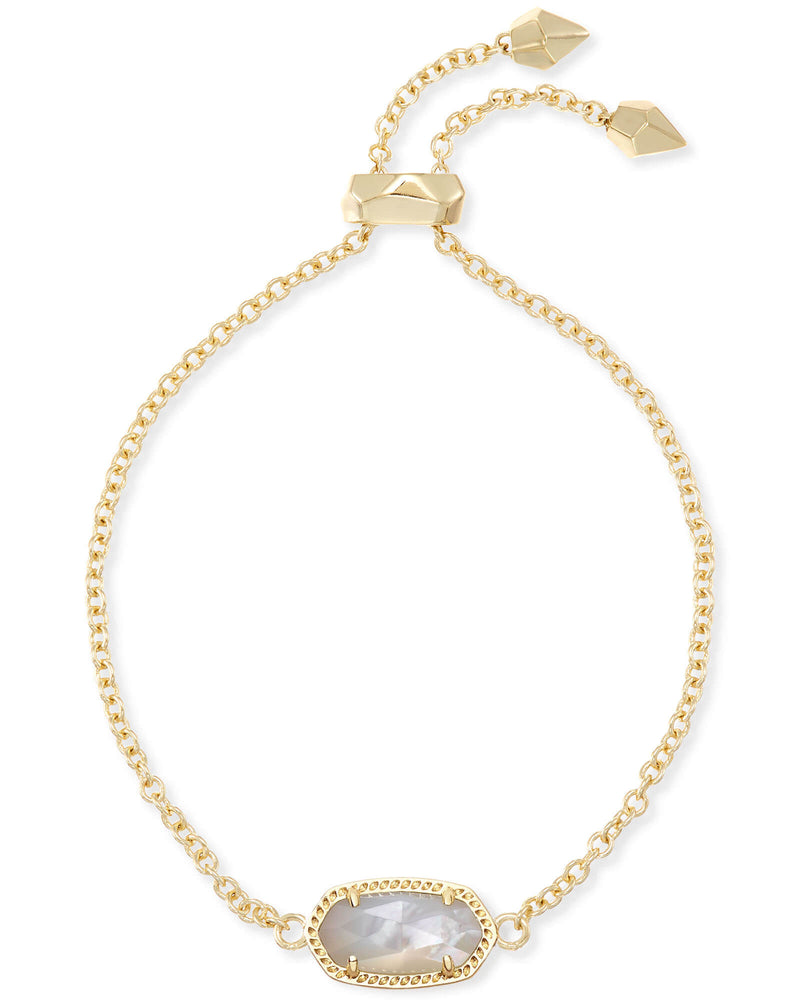 Elaina Adjustable Chain Bracelet In Ivory Mother of Pearl