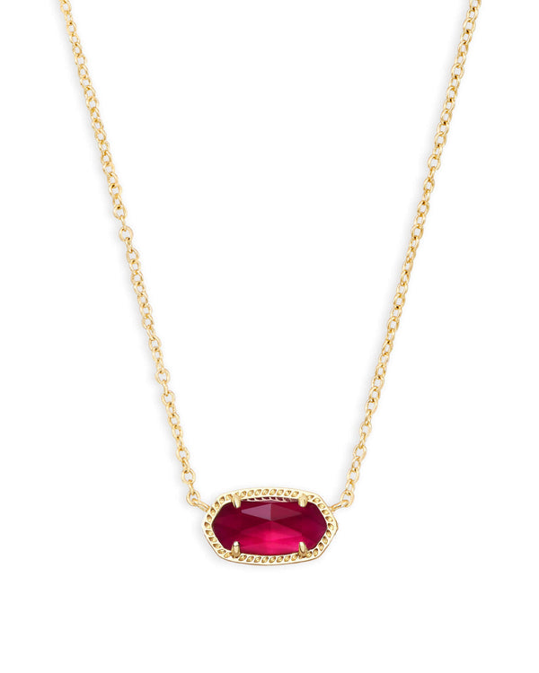 KENDRA SCOTT Elisa Pendant Necklace In Berry Illusion