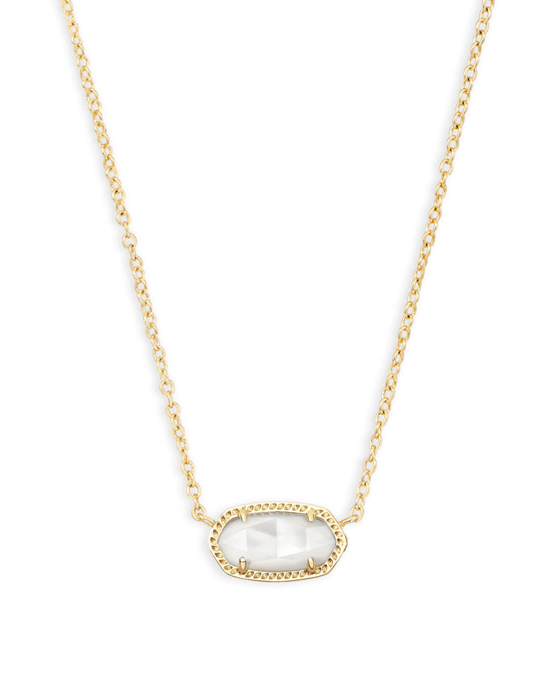 KENDRA SCOTT Elisa Gold Necklace in Ivory Mother-of-Pearl