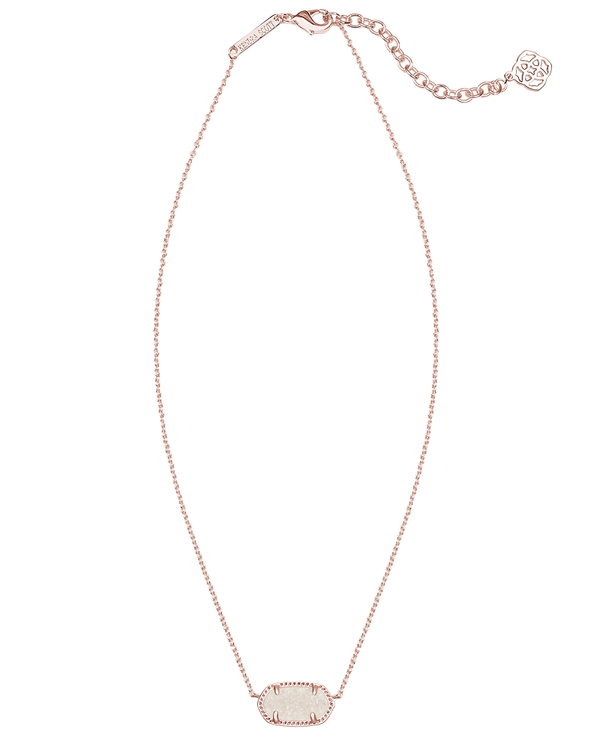 KENDRA SCOTT Elisa Rose Gold Necklace in Iridescent Drusy