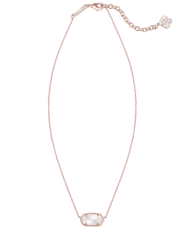 KENDRA SCOTT Elisa Rose Gold Necklace in Ivory Mother-of-Pearl