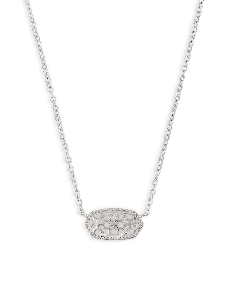KENDRA SCOTT Elisa Gold Pendant Necklace In Silver Filigree
