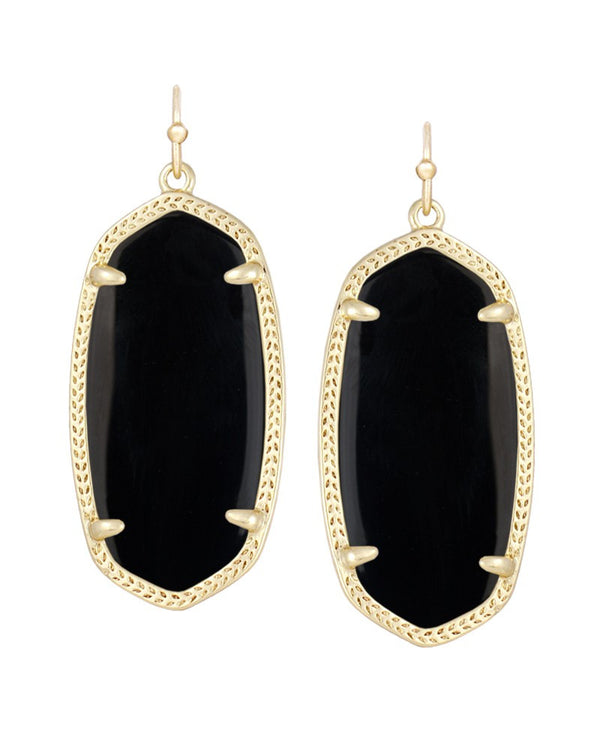 KENDRA SCOTT Elle Earrings in Black - Sabi Boutique - 1