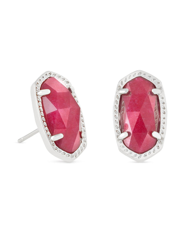 KENDRA SCOTT Elile Earrings in Maroon Jade - Silver