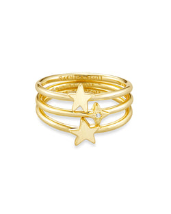 Jae Star Ring Set, Gold