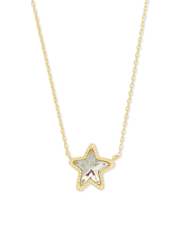 Jae Star Gold Pendant Necklace in Dichroic Glass