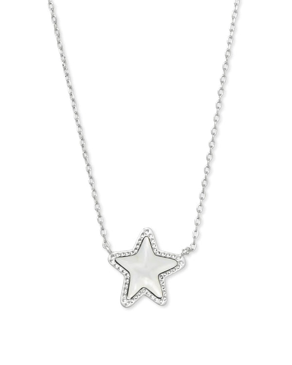 Jae Star Silver Pendant Necklace in Ivory Mother of Pearl