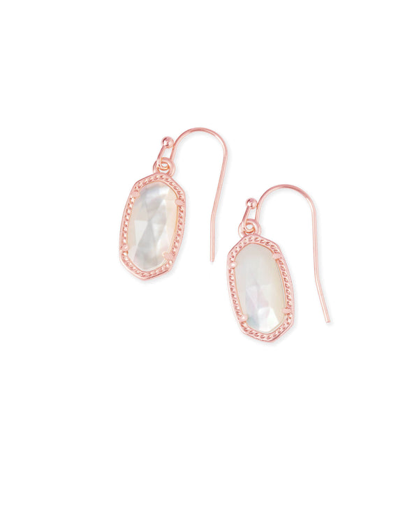 KENDRA SCOTT Lee Rose Gold Drop Earrings In Ivory Pearl