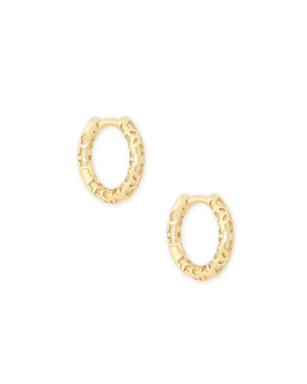 Maggie Huggie Earrings In Gold Filigree