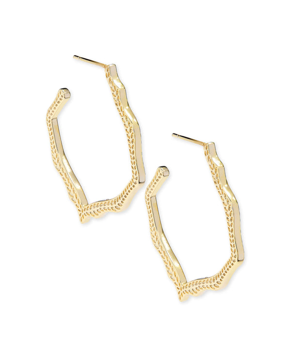 Miku Hoop Earrings In Gold