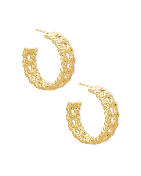 Natalie Gold Hoop Earrings