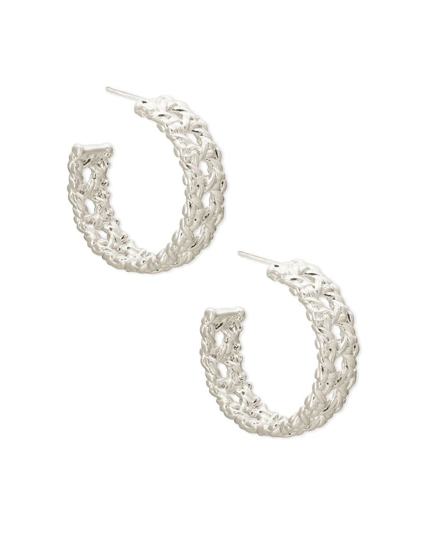 Natalie Gold Hoop Earrings In Silver