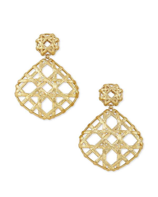 Natalie Gold Statement Earrings In Gold