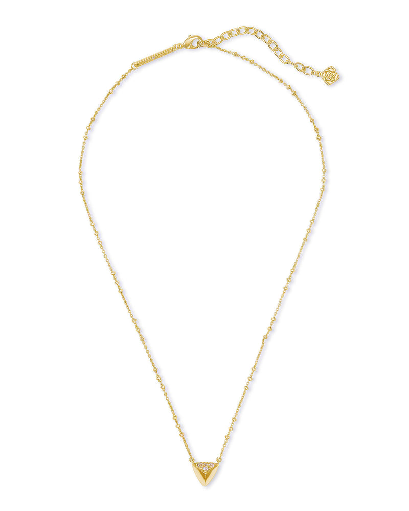 Perry Short Pendant Necklace in Gold
