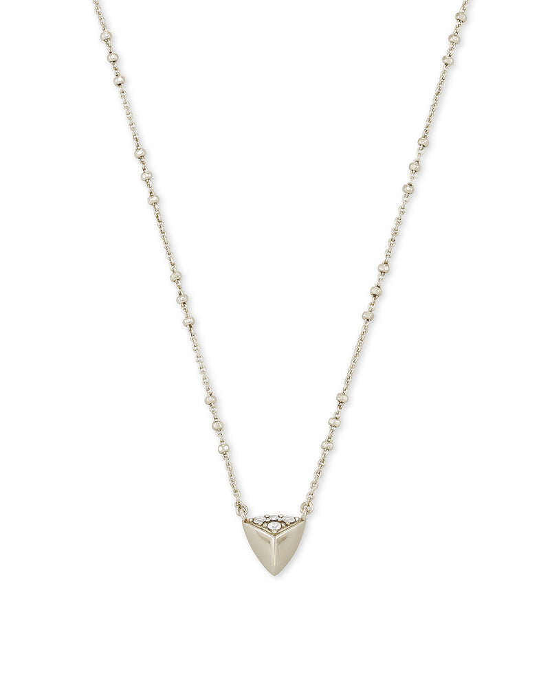 Perry Short Pendant Necklace in Silver