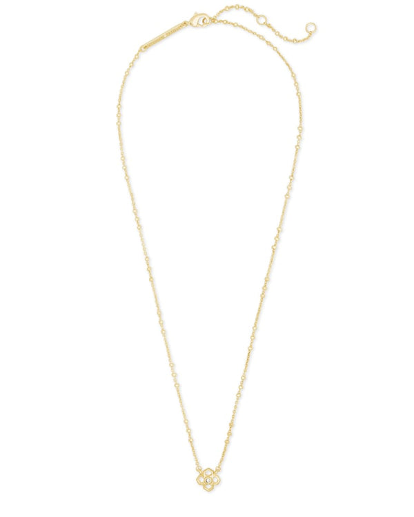 Rue Short Pendant Necklace in Gold