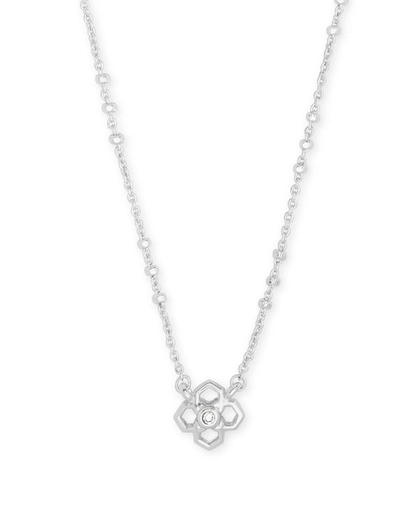 Rue Short Pendant Necklace in Silver