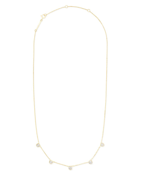 Shannon 14k Gold Necklace in White Diamond
