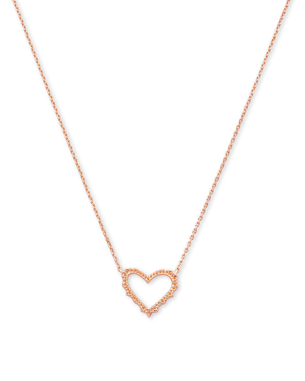Sophee Heart Small Pendant, Rose Gold