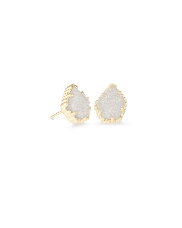 KENDRA SCOTT Tessa Stud Earrings in Gold Iridescent Drusy