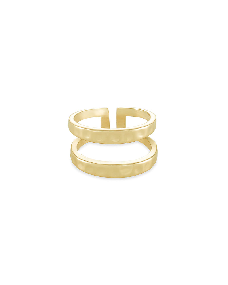 Zorte Double Band Ring In Gold