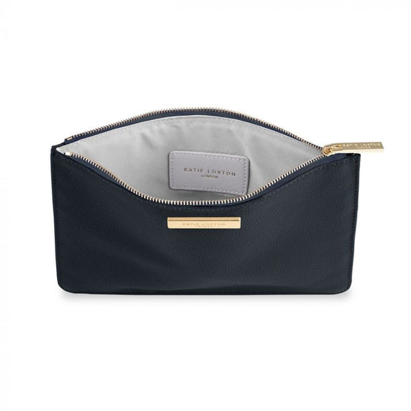 Soft Pebble Pouch in Navy Blue