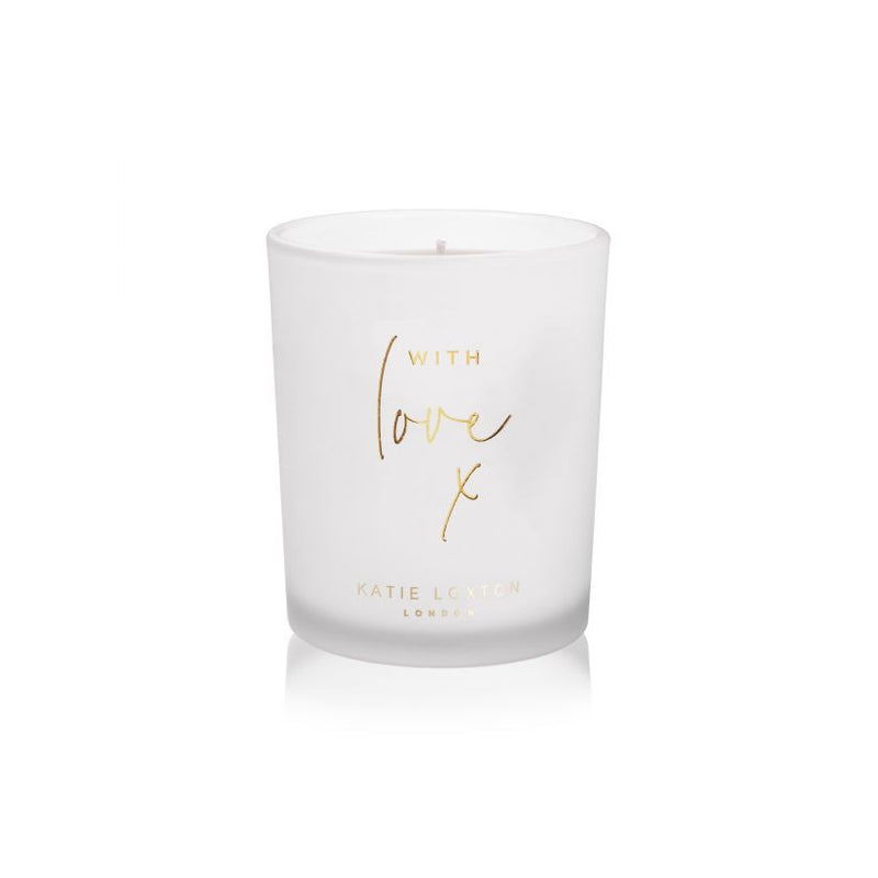 With Love Sentiment Candle
