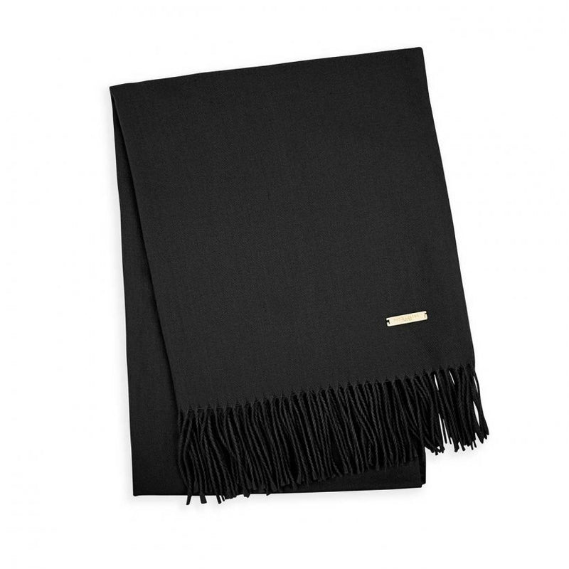 Thick Plain Scarf, Black