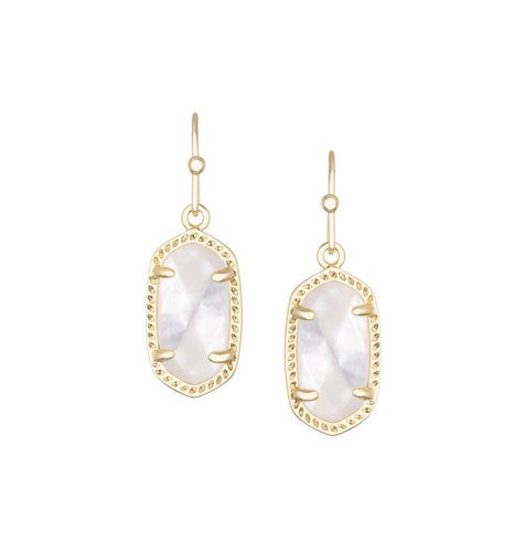 KENDRA SCOTT Lee Earrings in Ivory Mother-of-Pearl