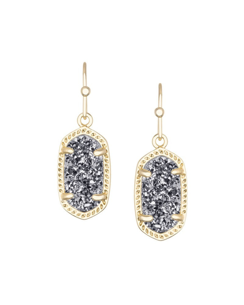 KENDRA SCOTT Lee Earrings in Gold Platinum Drusy