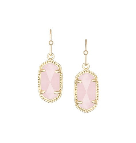 KENDRA SCOTT Lee Earrings in Rose Quartz