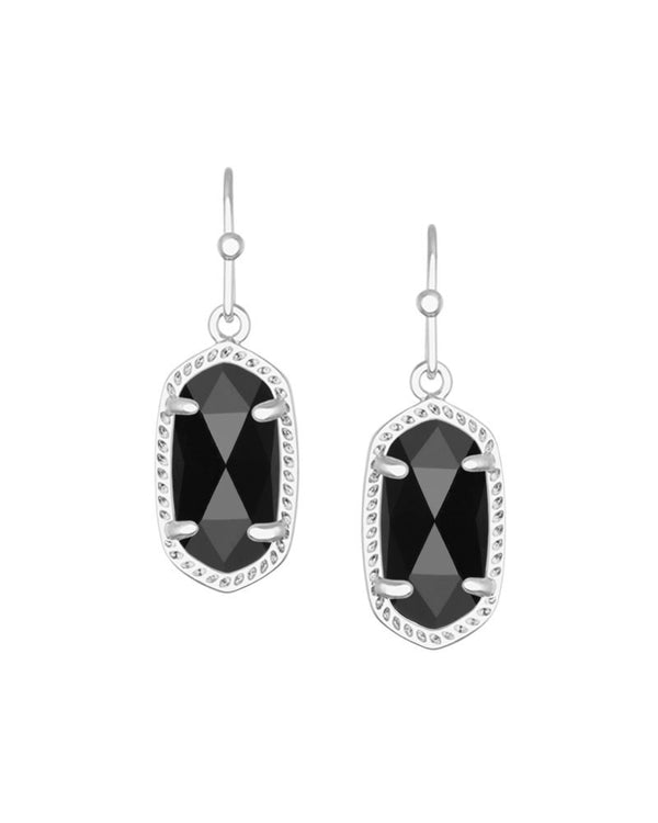 KENDRA SCOTT Lee Silver Earrings in Black
