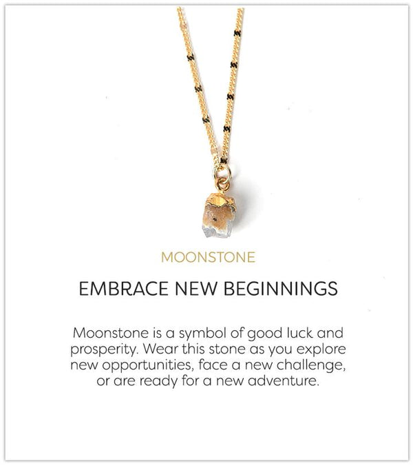 Embrace New Beginnings Necklace, Moonstone
