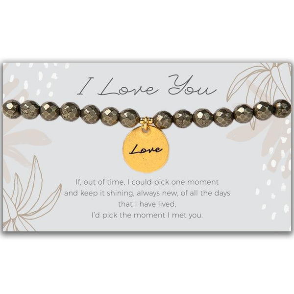 Token Stretch Bracelet, Love