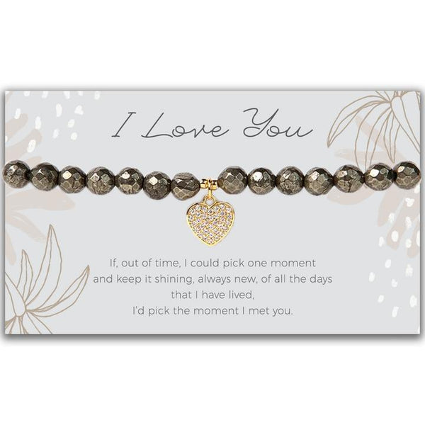 Token Stretch Bracelet, Heart